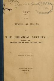 Cover of: List of officers and fellows