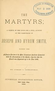 Cover of: The martyrs