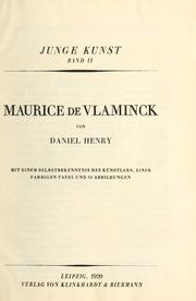 Cover of: Maurice de Vlaminck