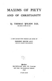 Cover of: Maxims of piety and of Christianity