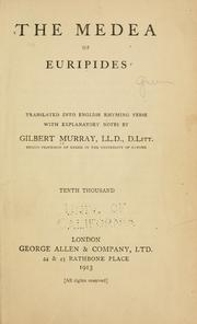 Cover of: The  Medea of Euripides | Euripides