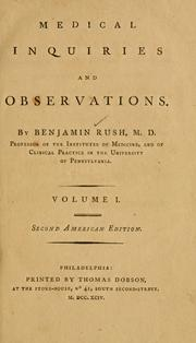 Cover of: Medical inquiries and observations