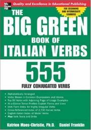 Cover of: The Big Green Book of Italian Verbs | Katrien Maes-Christie