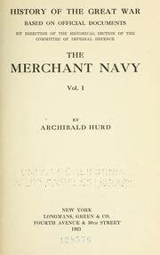 Cover of: The merchant navy