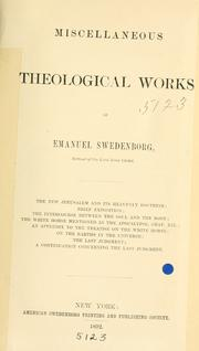 Cover of: Miscellaneous theological works of Emanuel Swedenborg
