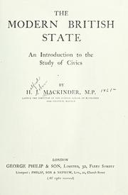 Cover of: The modern British state