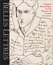 Cover of: Belles lettres