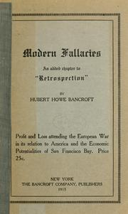 "Cover of: Modern fallacies: an added chapter to ""Retrospection,"""