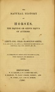 Cover of: The natural history of horses