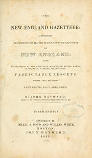 Cover of: New England gazetteer | Hayward, John