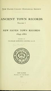Cover of: New Haven town records, 1649-