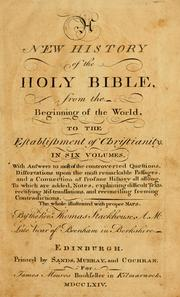 Cover of: new history of the Holy Bible | Stackhouse, Thomas