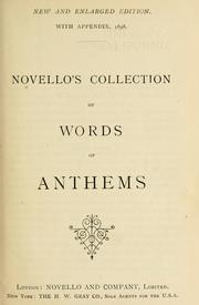 Novello's collection of words of anthems by