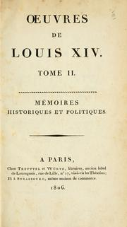 Cover of: Oeuvres de Louis 14