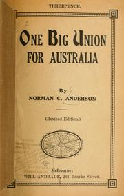 Cover of: One big union for Australia