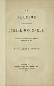 Cover of: An oration on the death of Daniel O'Connell