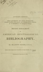 Cover of: Ornithological bibliography