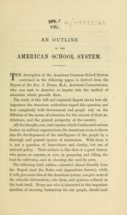 Cover of: An outline of the American school system