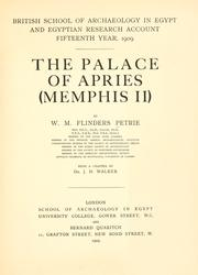 Cover of: The Palace of Apries (Memphis II