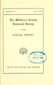 Cover of: Pamphlets. | Middlesex County historical society, Middletown, Conn