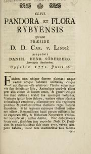 Cover of: Pandora et flora Rybyensis