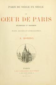 Cover of: Paris de siècle en siècle
