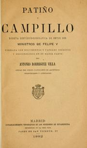 Cover of: Patiño y Campillo