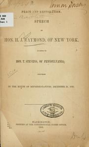 Cover of: Peace and restoration
