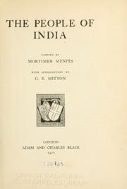 Cover of: The people of India
