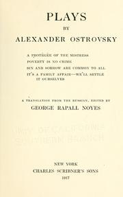 Plays by Aleksandr Nikolaevich Ostrovsky