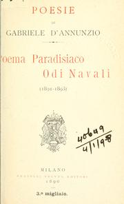 Cover of: Poema paradisiaco
