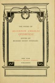 Cover of: The poems of Algernon Charles Swinburne | Algernon Charles Swinburne