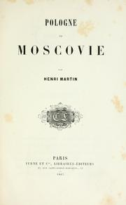 Cover of: Pologne et Moscovie
