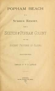 Cover of: Popham beach as a summer resort | William Berry Lapham