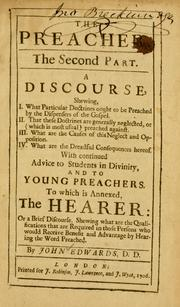 Cover of: The Preacher, the second part
