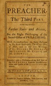 Cover of: The Preacher, the third part