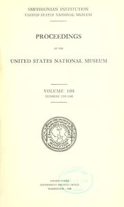 Cover of: Proceedings of the United States National Museum. by United States National Museum.