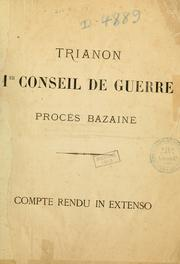 Cover of: Procès Bazaine