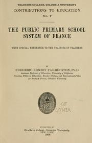 Cover of: The public primary school system of France