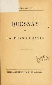 Cover of: Quesnay et la Physiocratie