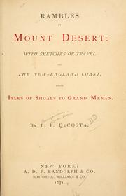 Cover of: Rambles in Mount Desert