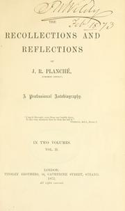 Cover of: Recollections and reflections, a professional autobiography