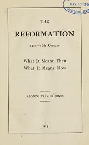 Cover of: The Reformation, 14th-16th century