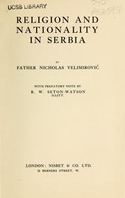 Cover of: Religion and nationality in Serbia