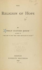 Cover of: The religion of hope