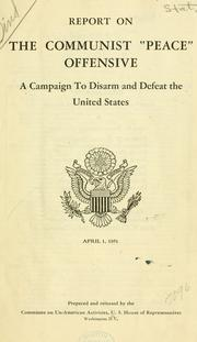 "Cover of: Report on the Communist ""peace"" offensive 