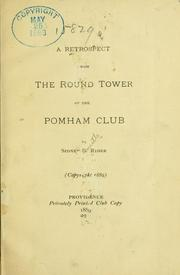Cover of: retrospect from the round tower of the Pomham club | Sidney S. Rider