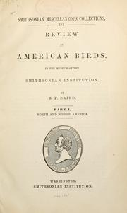 Cover of: Review of American birds, in the Museum of the Smithsonian Institution