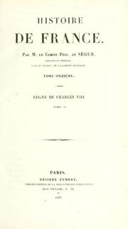 Cover of: Règne de Charles VIII