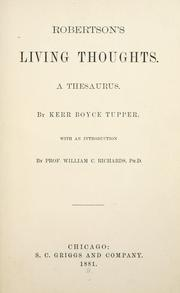 Cover of: Robertson's living thoughts: a thesaurus